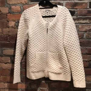 Madewell Wool Bomber Sweater XL